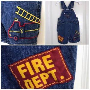 🏅HP🏅Boys Denim Overall Shorts